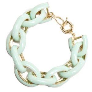 Mint enamel link bracelet